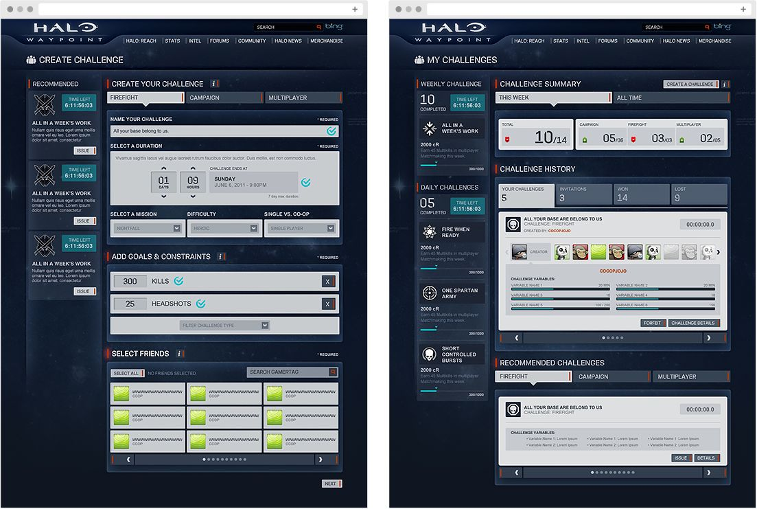 Halo: Waypoint Challenges: