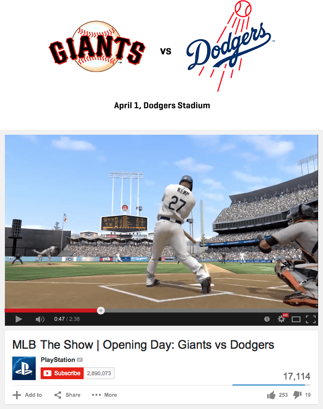 PlayStation MLB The Show - Rivalry Cinematics Drive Engagement