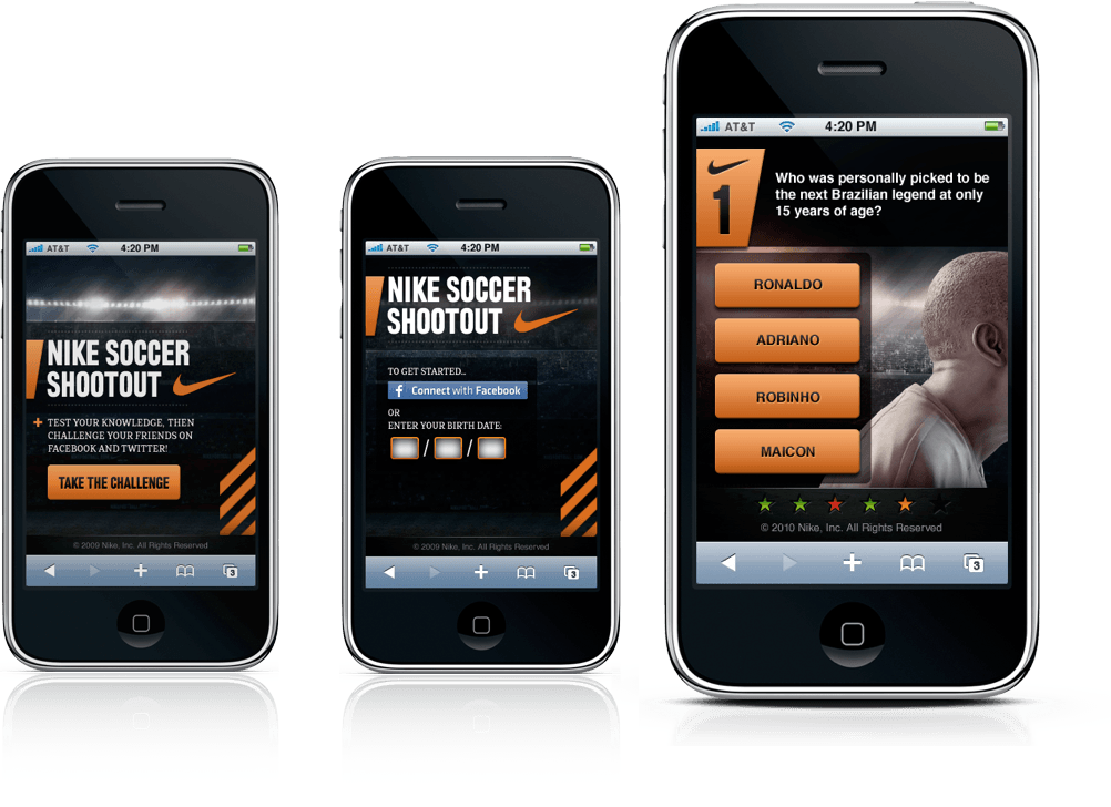 Nike Soccer Shootout Mobile Experience