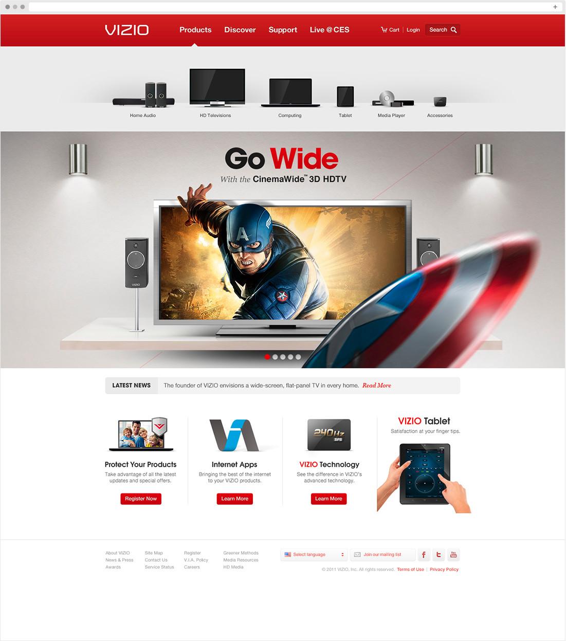 VIZIO Homepage