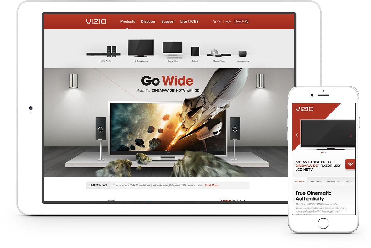 VIZIO Multi-Screen Responsive Designs