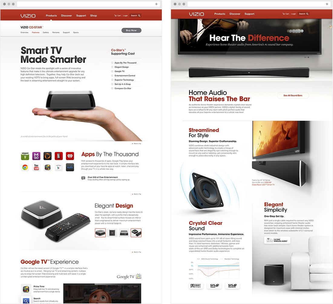VIZIO Product Experience Pages
